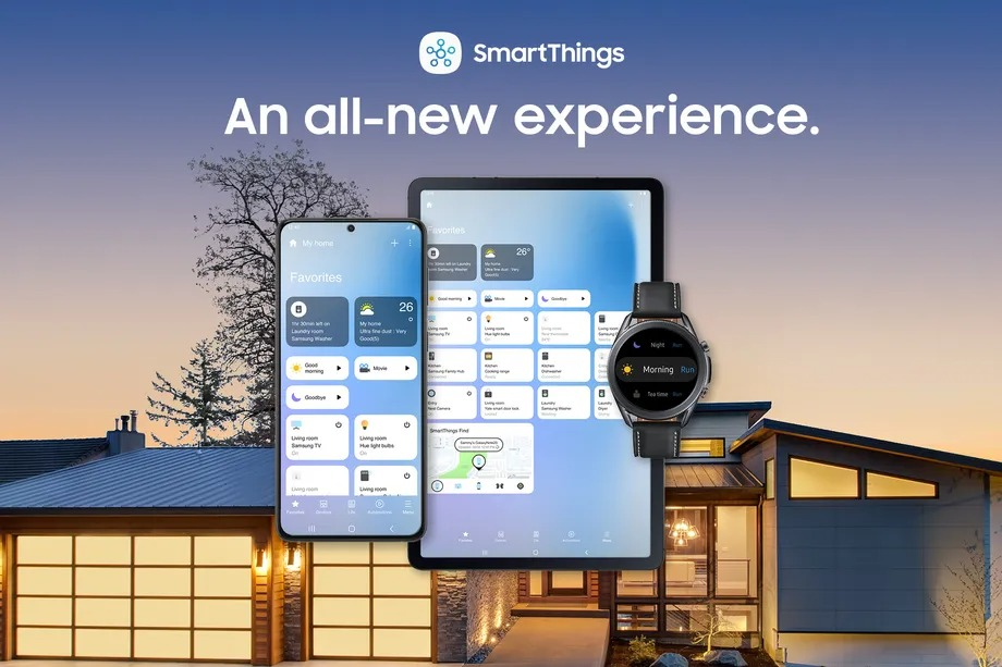 Samsung has given its smart home app SmartThings a fresh interface